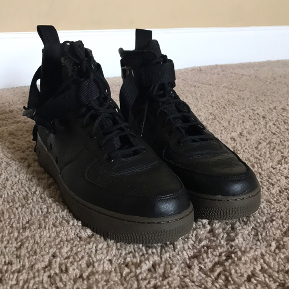 another chance f5dc2 21e36 Nike sf air force 1 mid (black and hazel)